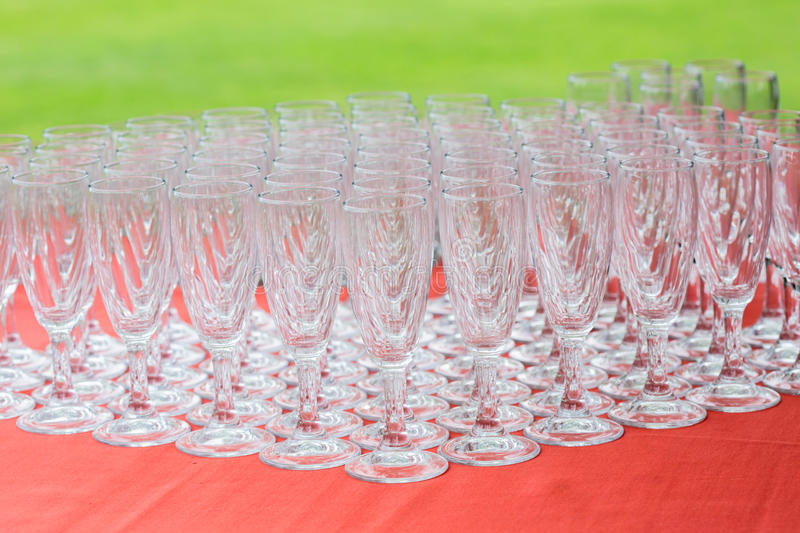 Glass catering royalty free stock images