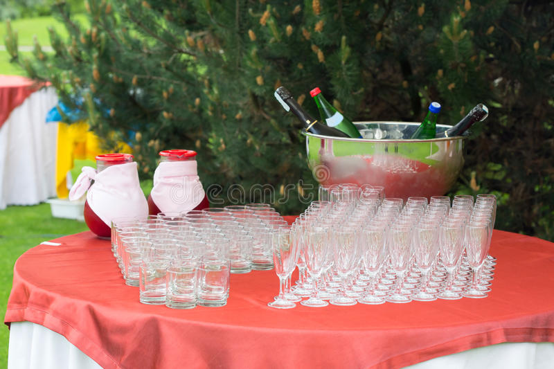 Glass catering royalty free stock photography