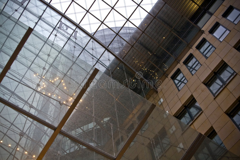 Download Glass ceiling in building stock photo. Image of windows - 6259406