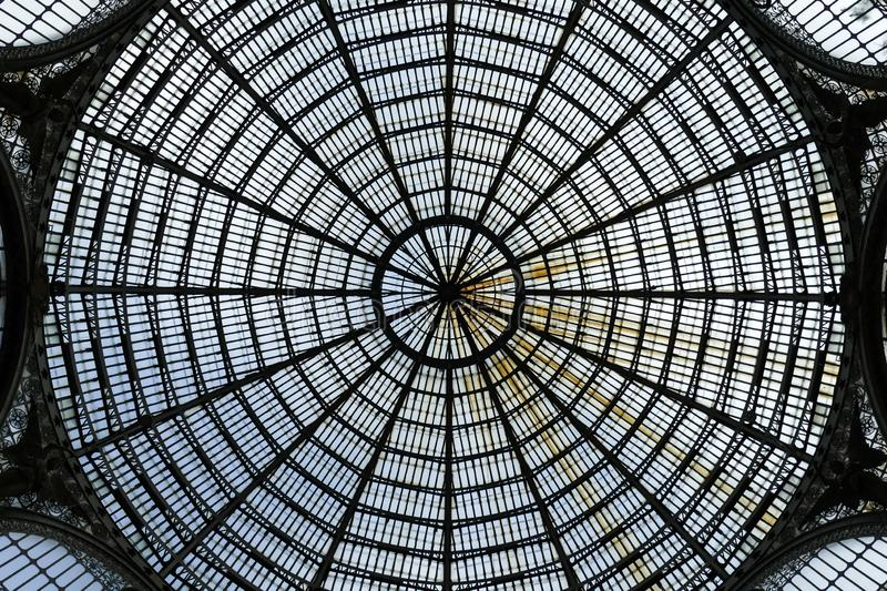Glass ceiling from Umberto Gallery. stock images