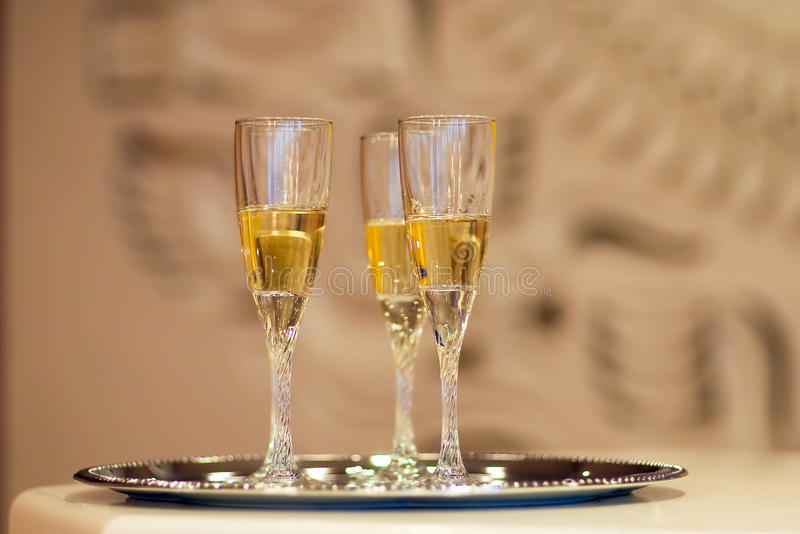 Glass Of Champagne Royalty Free Stock Photography