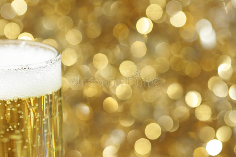 Glass of champagne stock photography
