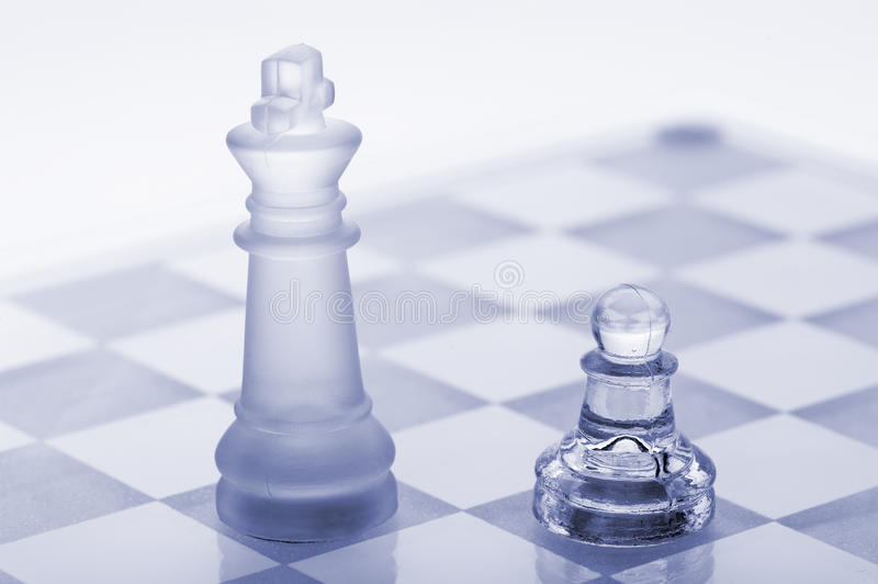 Download Glass Chess. A Pawn And A King Stock Photos - Image: 22185343