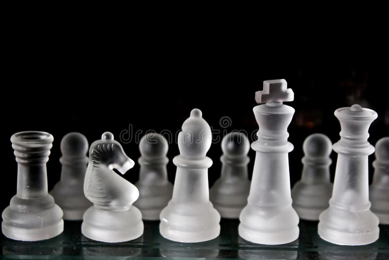 Download Glass Chess Set Royalty Free Stock Photography - Image: 10877217