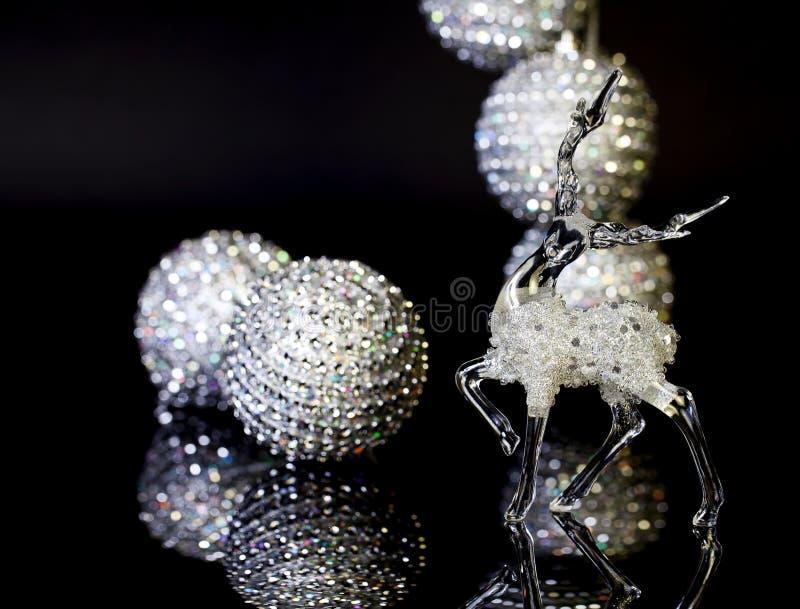 Glass Christmas Stag stock photography