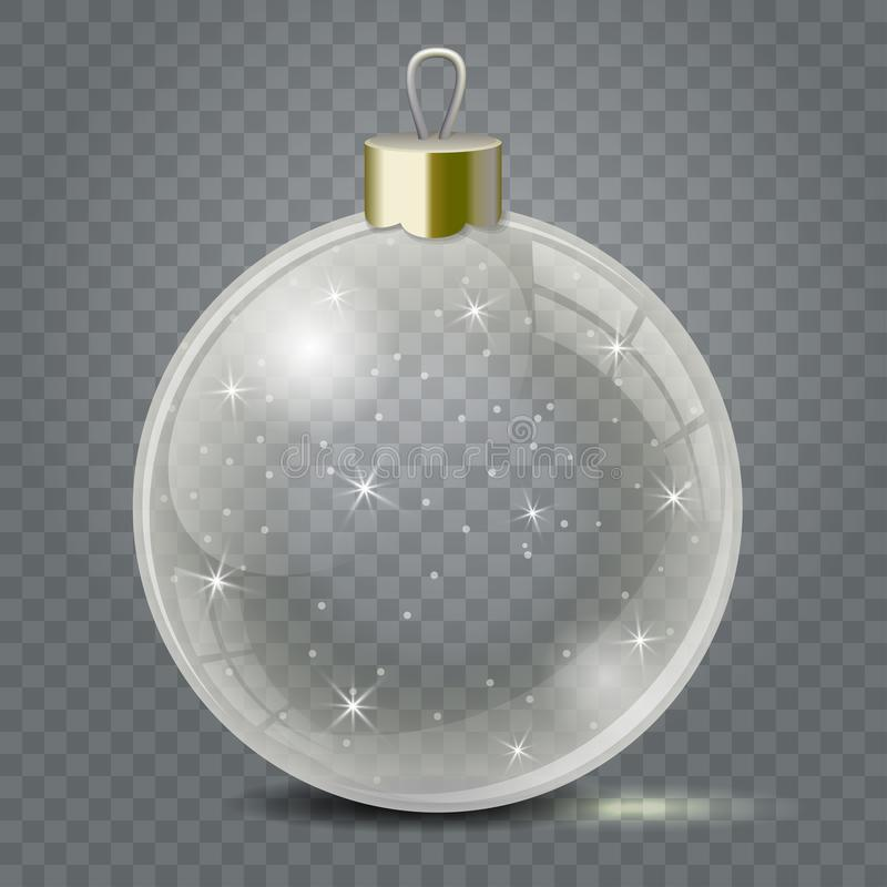 Free Glass Christmas Toy On A Transparent Background. Stocking Christmas Decorations Or New Years. Transparent Vector Object Royalty Free Stock Image - 103865726