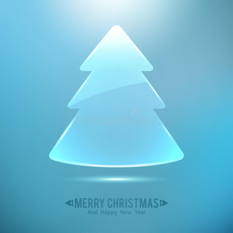 Glass christmas tree vector illustration