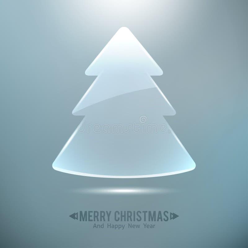 Glass christmas tree royalty free illustration