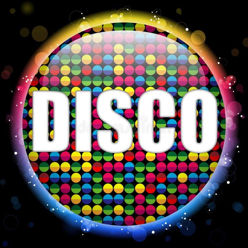 Glass Circle Color Disco Ball royalty free illustration