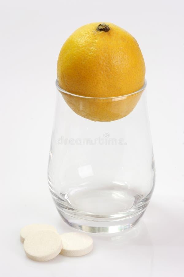 glass citron royaltyfria foton