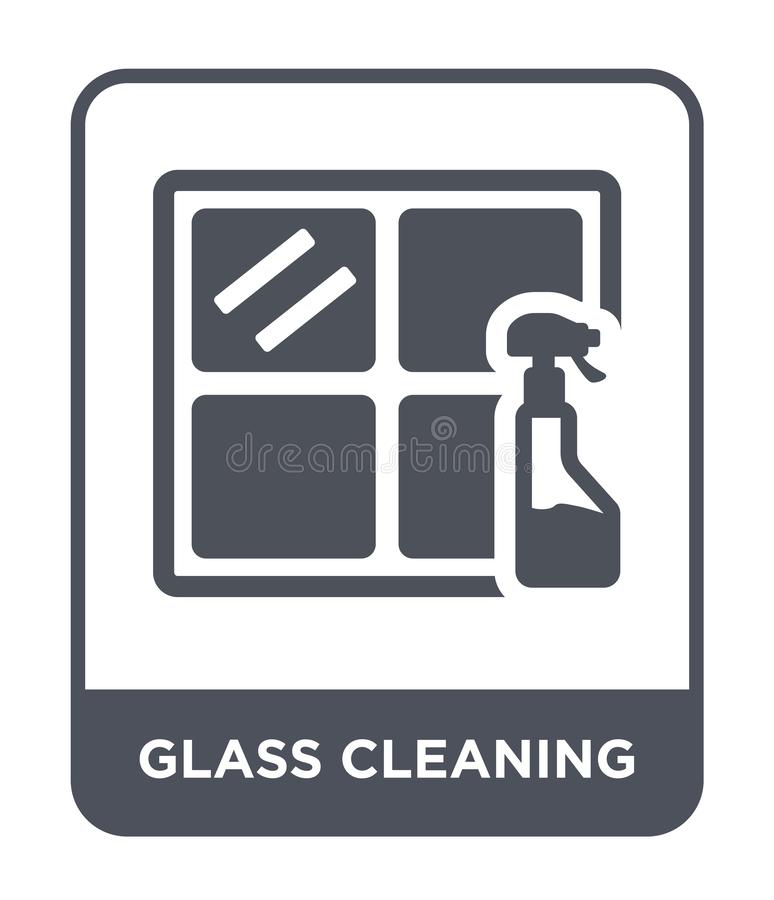 glass cleaning icon in trendy design style. glass cleaning icon isolated on white background. glass cleaning vector icon simple royalty free illustration