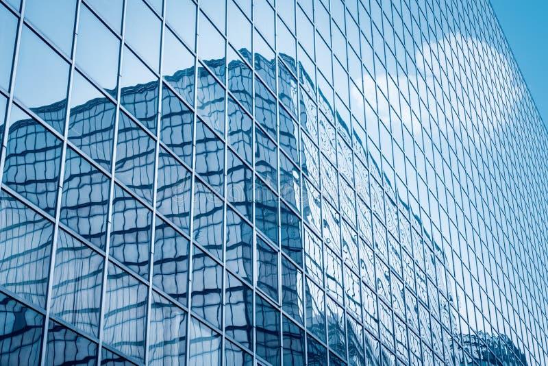 Glass closeup för gardinvägg arkivbilder