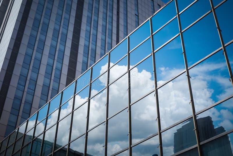 Glass closeup för gardinvägg royaltyfri fotografi