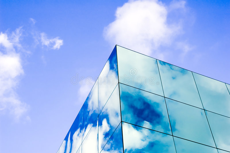 Glass clouds royalty free stock image