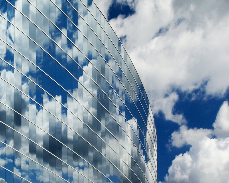 Glass and Clouds royalty free stock image