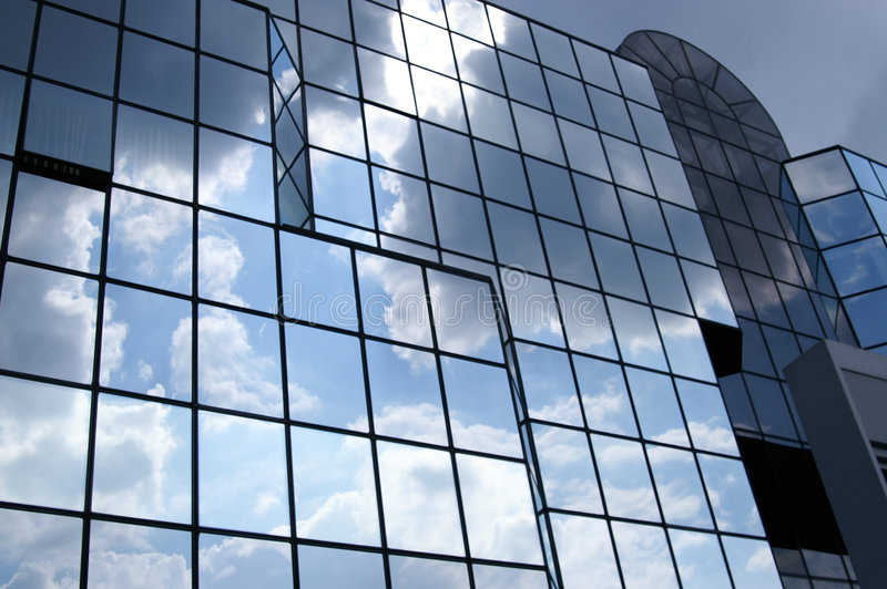Glass and cloudy royalty free stock image