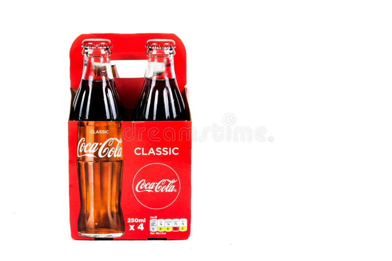 Glass Coca Cola Bottle royalty free stock image