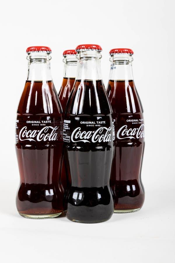 Glass Coca Cola Bottle royalty free stock photos