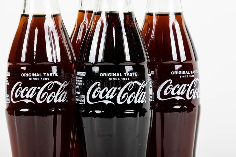 Glass Coca Cola Bottle stock photography
