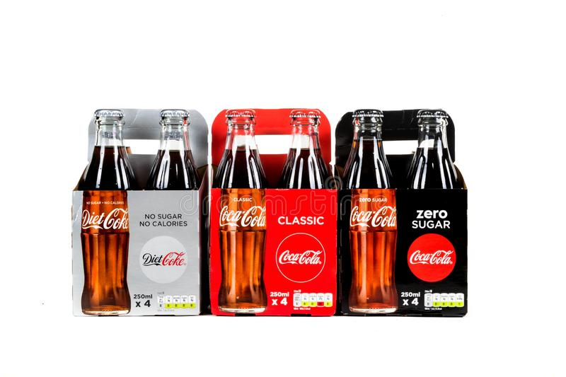 Glass Coca Cola Bottle stock images