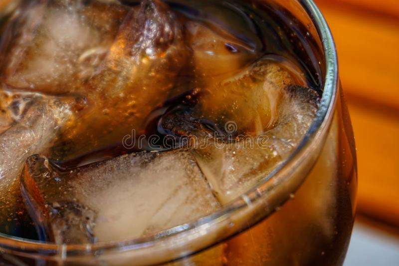 Glass of coca cola royalty free stock images