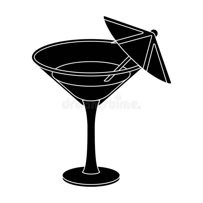 Glass with a cocktail.Party and parties single icon in black style vector symbol stock illustration. Glass with a cocktail.Party and parties single icon in royalty free illustration