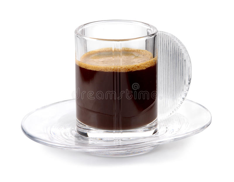 Glass Coffee Cup Stock Photos