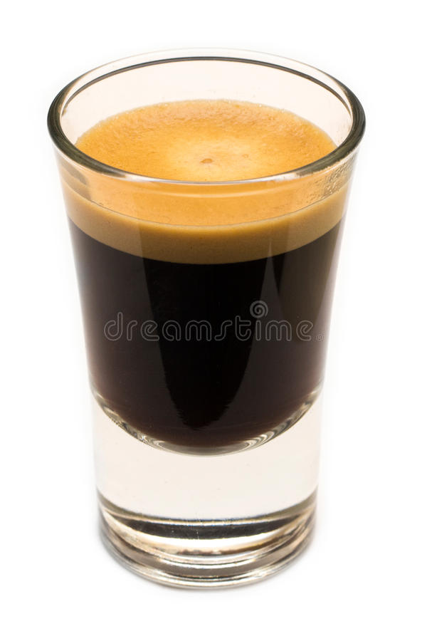 Glass of coffee royalty free stock image