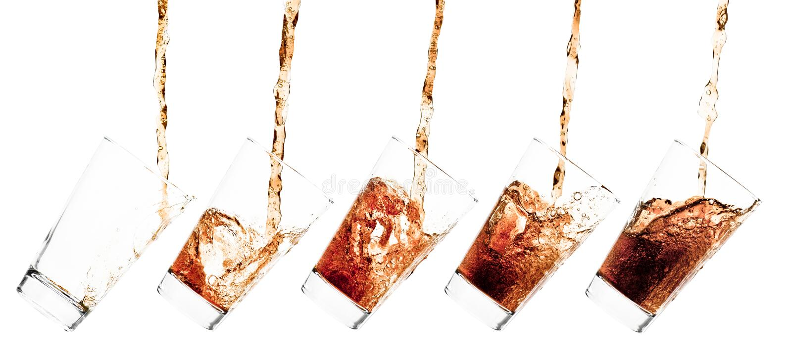 Download Glass with cola stock image. Image of flow, bubble, cool - 10602489