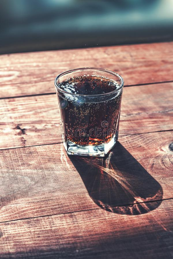 Glass of cola, cola, rum, cocktail, refreshment, cuba, drink, in royalty free stock photos