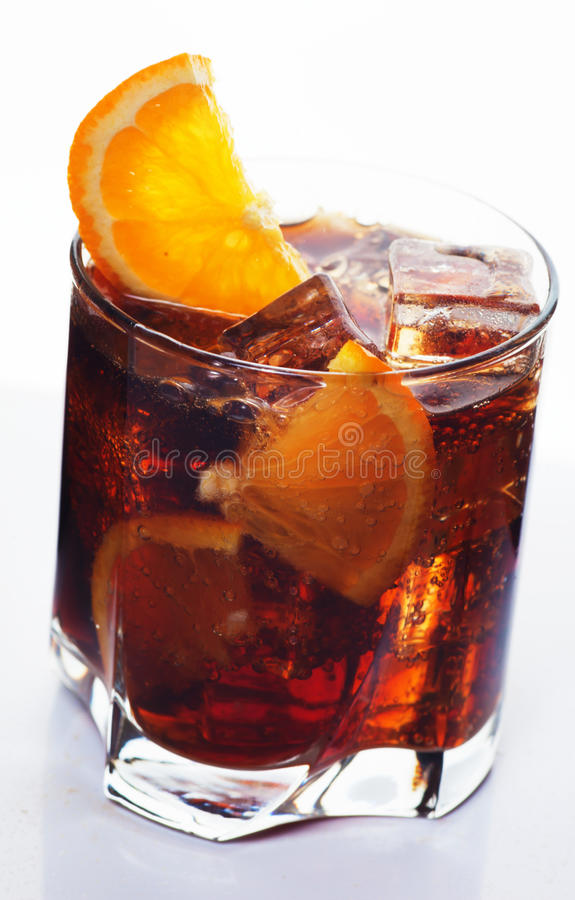 Glass of cola drink stock photography