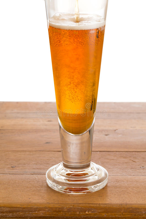 Download Glass Of Cold Golden Beer On Wooden Bar Stock Photo - Image: 26068844