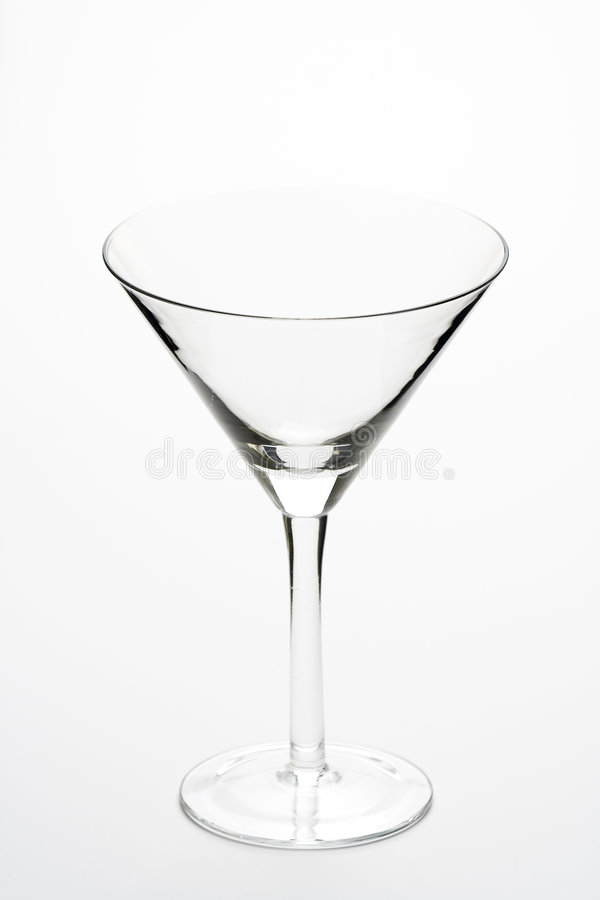 Glass cold martini cocktail isolated stock image