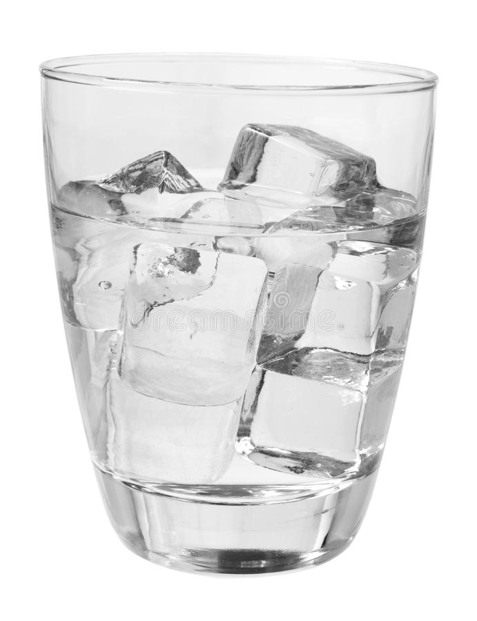 Glass of Cold Water. On White Background royalty free stock images
