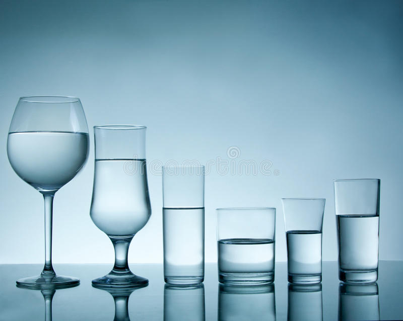 Glass collection royalty free stock images