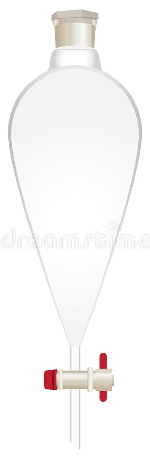 Free Glass Conical Separatory Funnel Stock Photo - 120049700