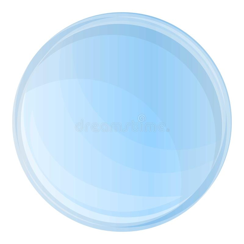 Glass contact lens icon, cartoon style stock illustration