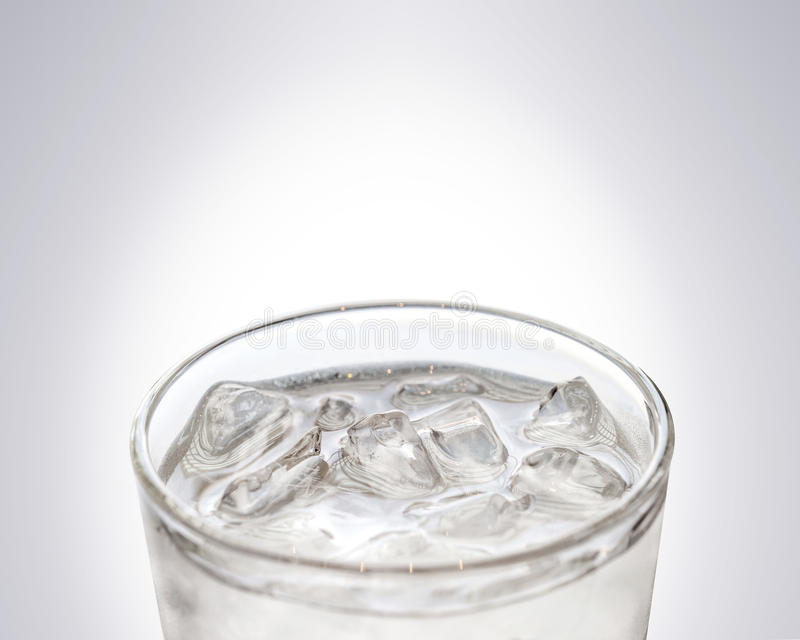 Glass of cool freshness water with ice royalty free stock images