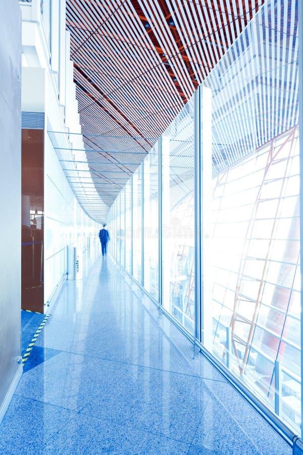 Glass corridor interior royalty free stock photo