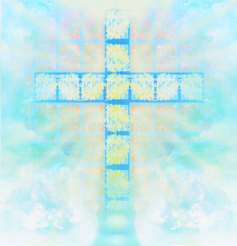 Download Glass Cross In Sky Stock Photography - Image: 33284852