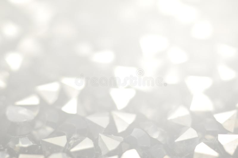 Glass crystalsin gray tones. royalty free stock image