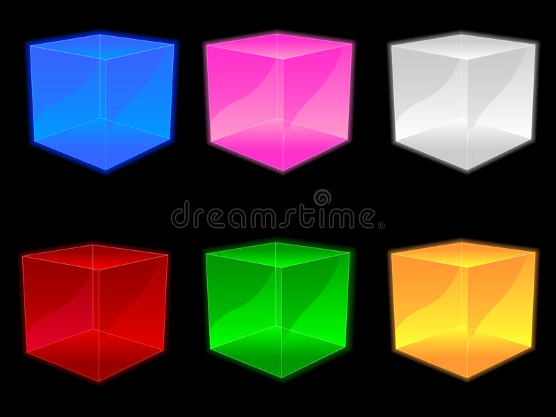 Glass Cubes EPS stock illustration