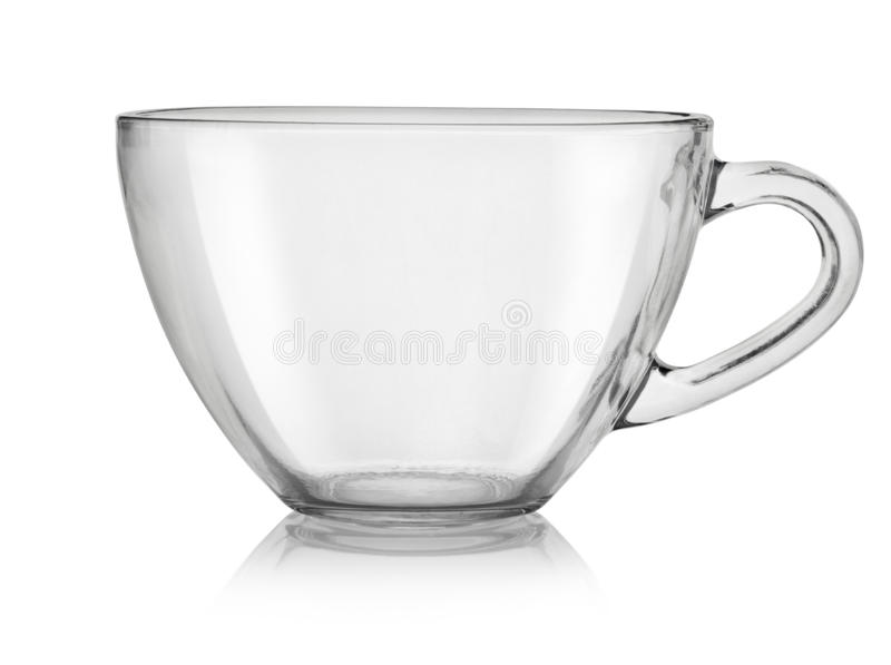 Glass cup(0). Glass cup isolated on a white background. Clipping path royalty free stock images
