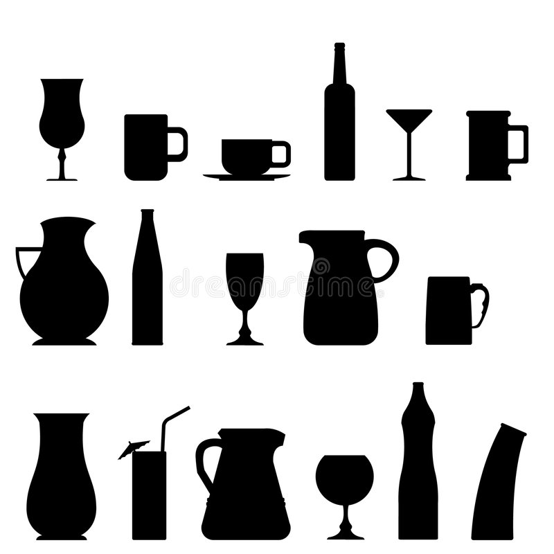 Download Glass and cup stock vector. Illustration of object, teapot - 8784686