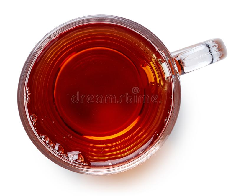 Glass cup of black tea royalty free stock photo