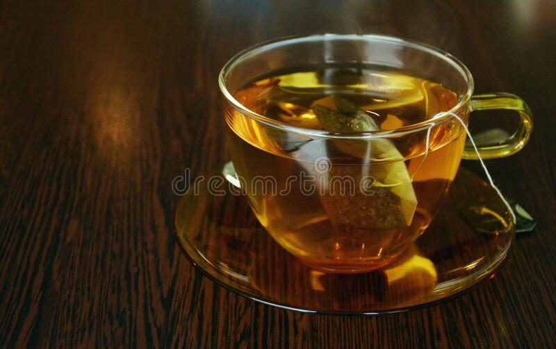 Glass cup of tea royalty free stock photos