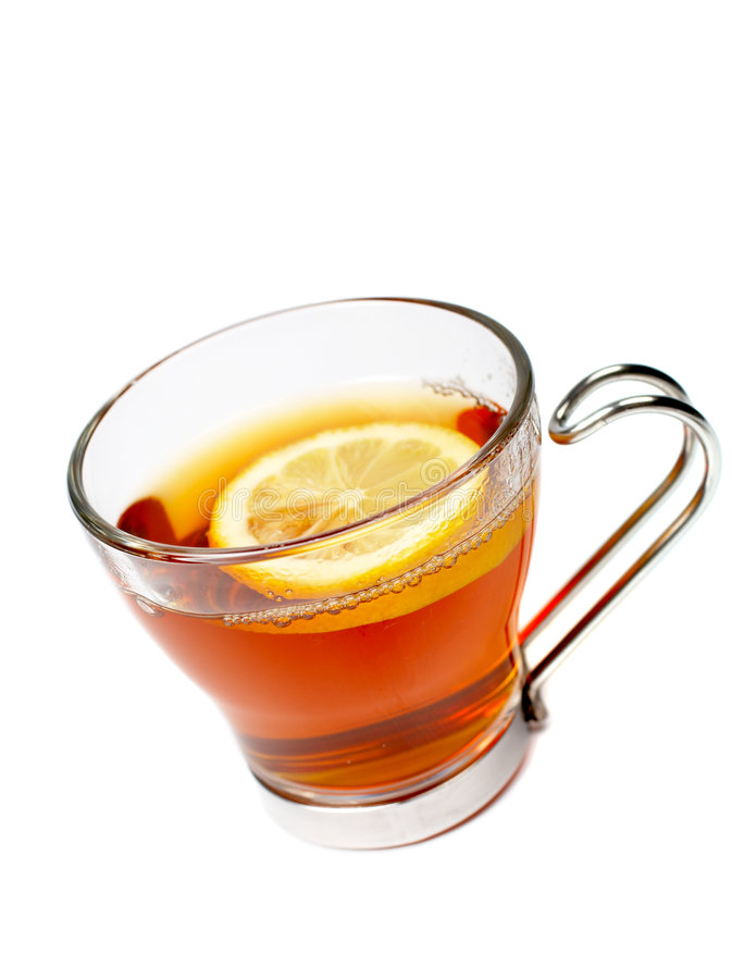 Download Glass Cup Of Tea With Lemon Stock Photo - Image: 2132816