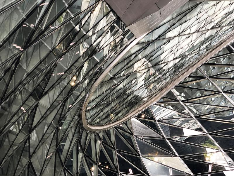 Glass Curtail Wall Parametric Design stock photography