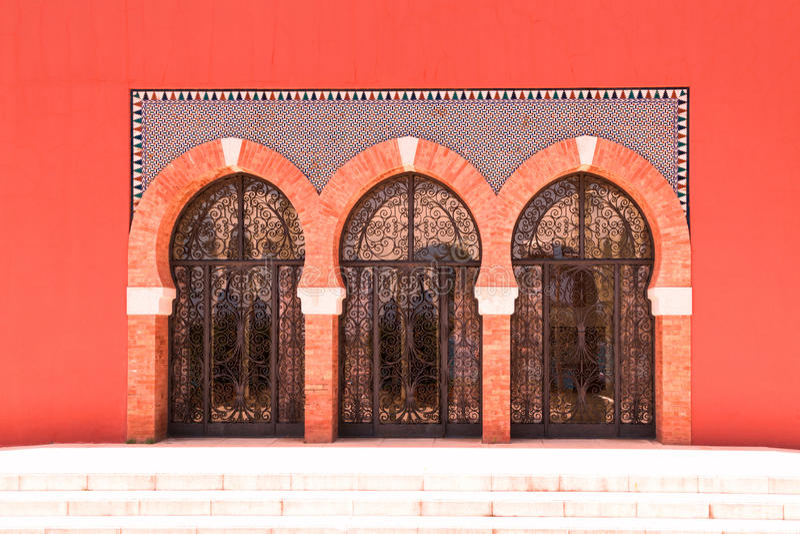 Glass dörrar royaltyfri bild