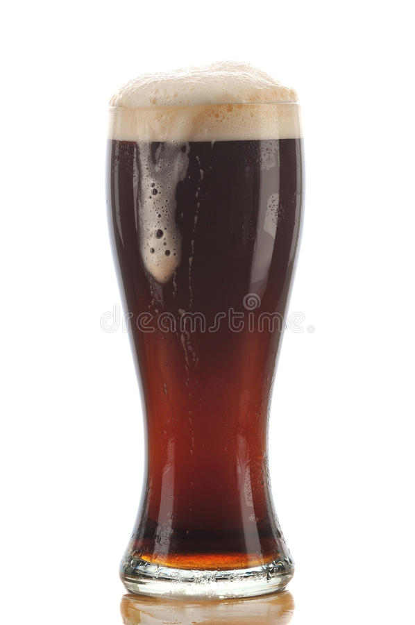 Download Glass of Dark Ale stock image. Image of cutout, froth - 10670411